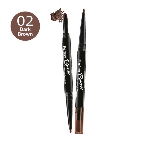 Chì Định Hình Mày 2 Đầu Silkygirl Perfect Brow Liner  Powder 01 Natural Brown