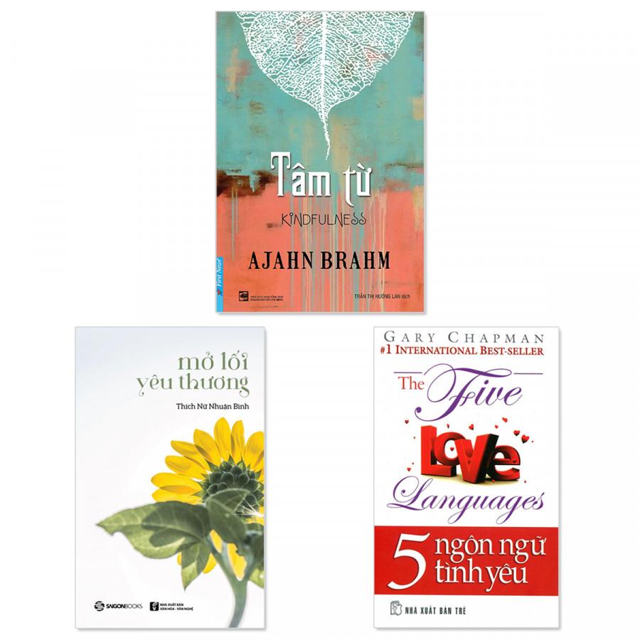 Combo 3 quyển: Tâm Từ,  Mở Lối Yêu Thương, 5 Ngôn Ngữ Tình Yêu