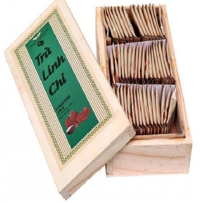 Trà Linh Chi OPHA_Hộp gỗ 50 gói