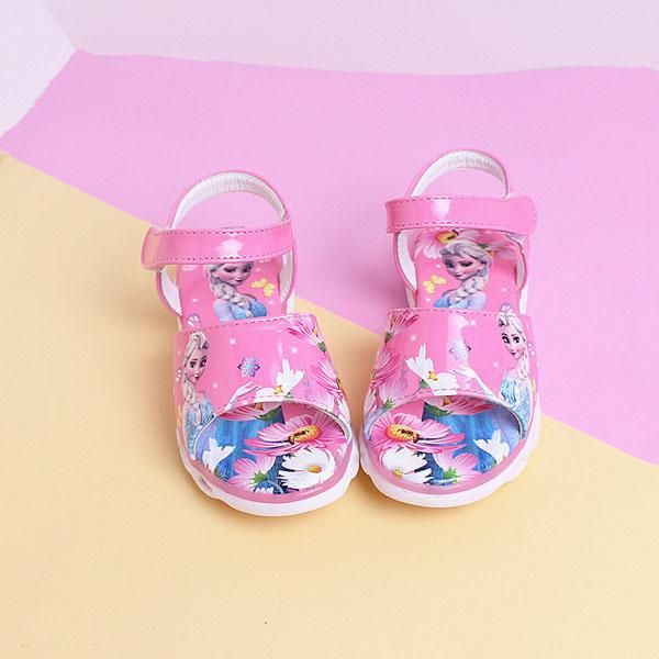 Giày Sandal bé gái in 3D công chúa Elsa