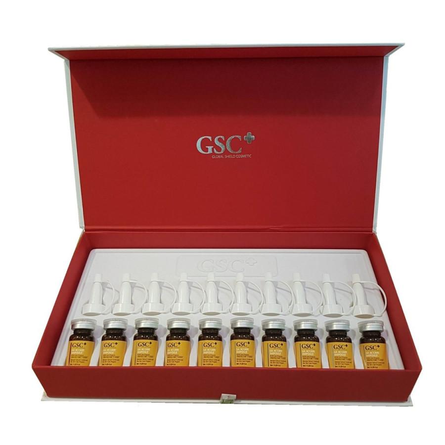 10 tế bào gốc GSC trị mụnBộ nguyên hộp GA AC CARE AMPOULE