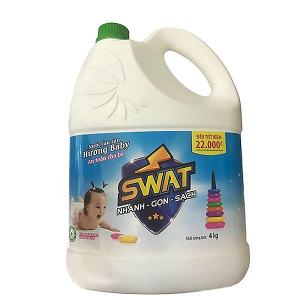 Nước Lau Sàn Dành Cho Bé SWAT Baby (4kg) - 812287 , 1297030483210 , 62_14762540 , 95000 , Nuoc-Lau-San-Danh-Cho-Be-SWAT-Baby-4kg-62_14762540 , tiki.vn , Nước Lau Sàn Dành Cho Bé SWAT Baby (4kg)