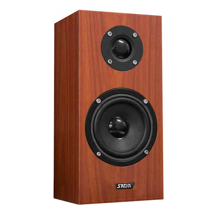 SADA V-180 3.5mm Wired Wooden Speaker Computer Loudspeaker Bass Stereo Music Player Subwoofer Sound Box for Desktop
