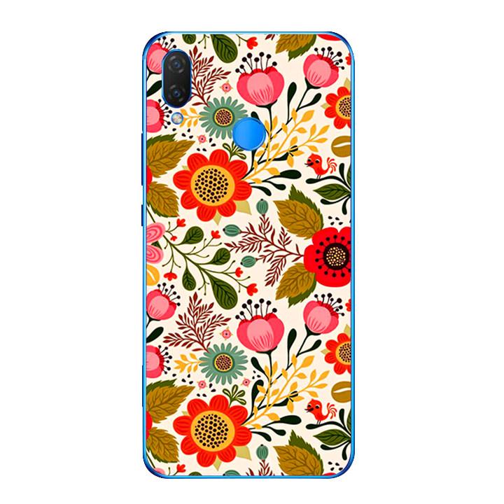 Ốp lưng dẻo cho điện thoại Huawei Y9 2019 - Flower 04