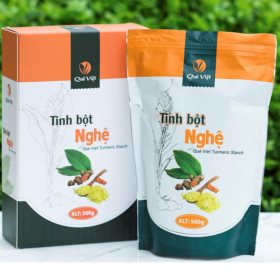 Tinh bột nghệ Quê Việt - hộp 500 gram