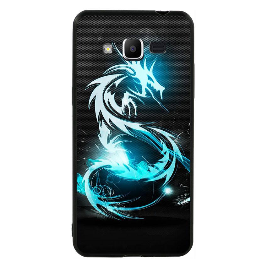 Ốp lưng nhựa cứng viền dẻo TPU cho điện thoại Samsung Galaxy J2 Prime - Dragon 01