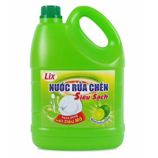 Nước Rửa Chén Siêu Sạch Lix Hương Chanh (4Kg)