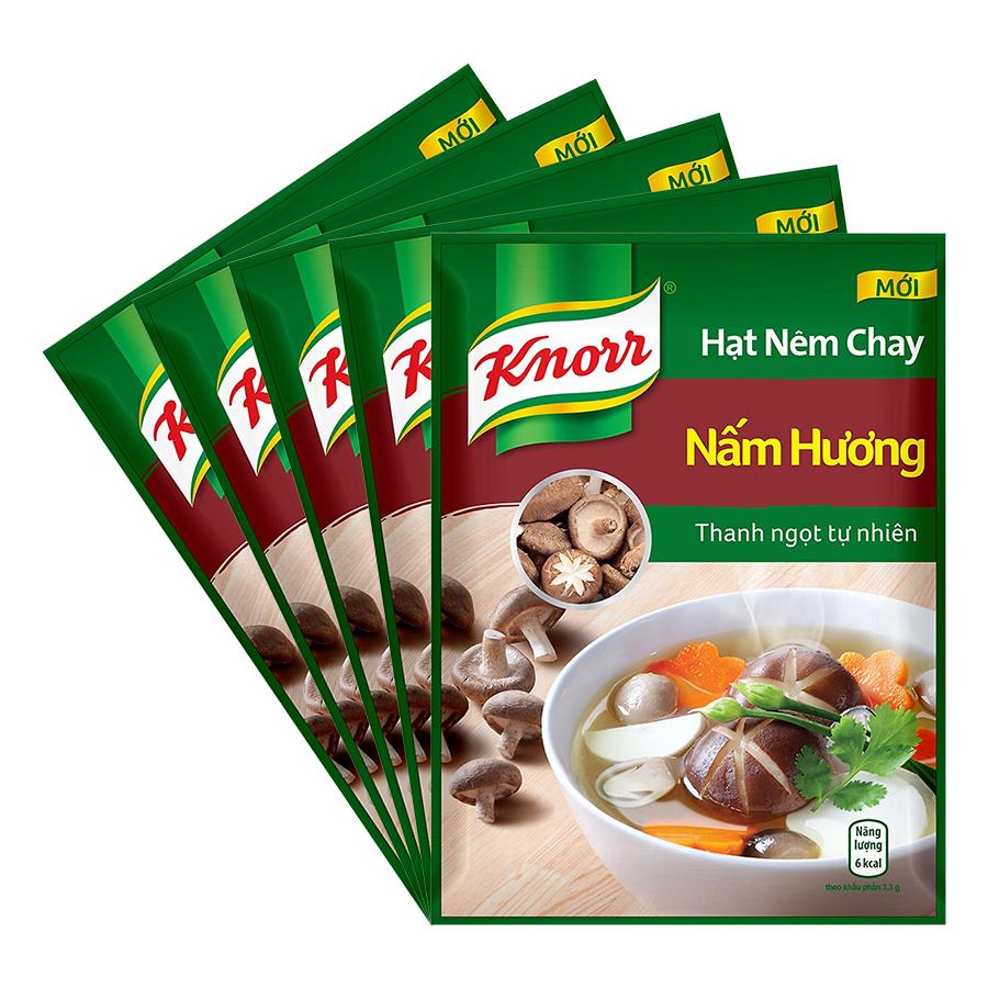Combo 5 Hạt Nêm Knorr Nấm Hương (170g/Gói)