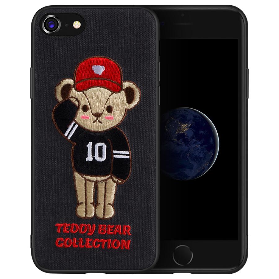 Ốp Gấu Teddy Thêu 3D Cho iPHone 7/8