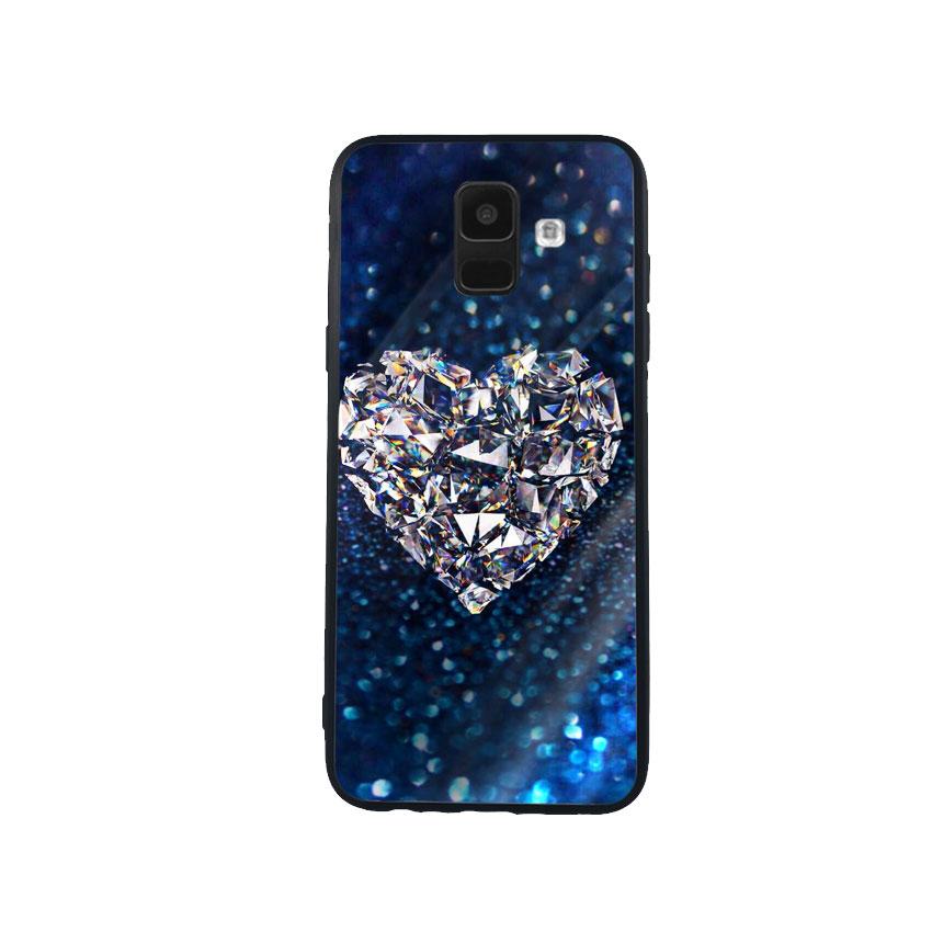 Ốp Lưng Kính Cường Lực cho điện thoại Samsung Galaxy A6 - Heart 11