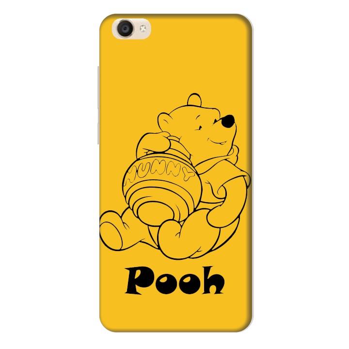 Ốp lưng nhựa cứng nhám dành cho Vivo Y55 in hình Pooh