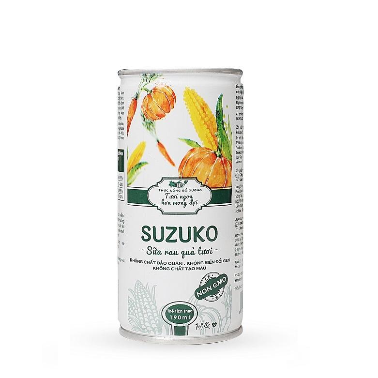 Sữa rau củ quả tươi Suzuko 190ml