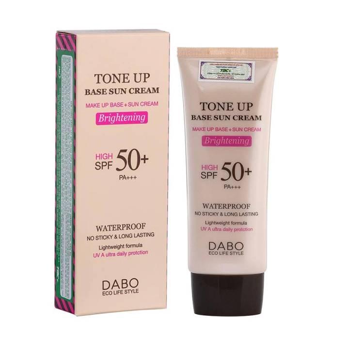 Kem chống nắng bổ sung dưỡng chất cho da nâng tone kiềm dầu Dabo Tone Up Base Sun Cream Hàn Quốc (70ml) - HÀNG CHÍNH HÃNG - 4860562 , 3286765511570 , 62_16536743 , 450000 , Kem-chong-nang-bo-sung-duong-chat-cho-da-nang-tone-kiem-dau-Dabo-Tone-Up-Base-Sun-Cream-Han-Quoc-70ml-HANG-CHINH-HANG-62_16536743 , tiki.vn , Kem chống nắng bổ sung dưỡng chất cho da nâng tone kiềm dầu