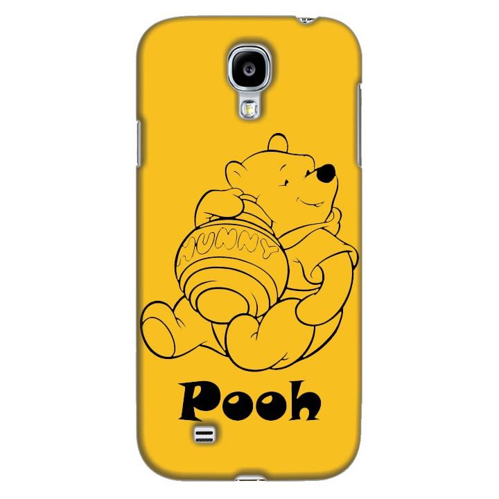 Ốp lưng nhựa cứng nhám dành cho Samsung Galaxy S4 in hình Pooh
