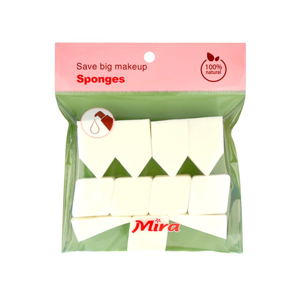 Bông phấn tán kem nền tiện dụng Hàn Quốc Mira ( 11 miếng)