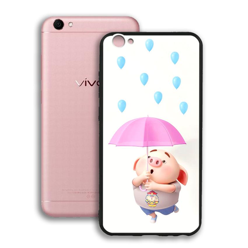 Ốp lưng viền TPU cho điện thoại Vivo V5 / V5S / Y67 - 02071 0523 PIG26 - Hàng Chính Hãng