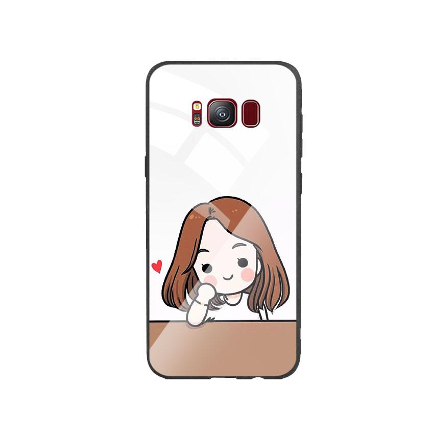 Ốp Lưng Kính Cường Lực cho điện thoại Samsung Galaxy S8 - Couple Girl 03