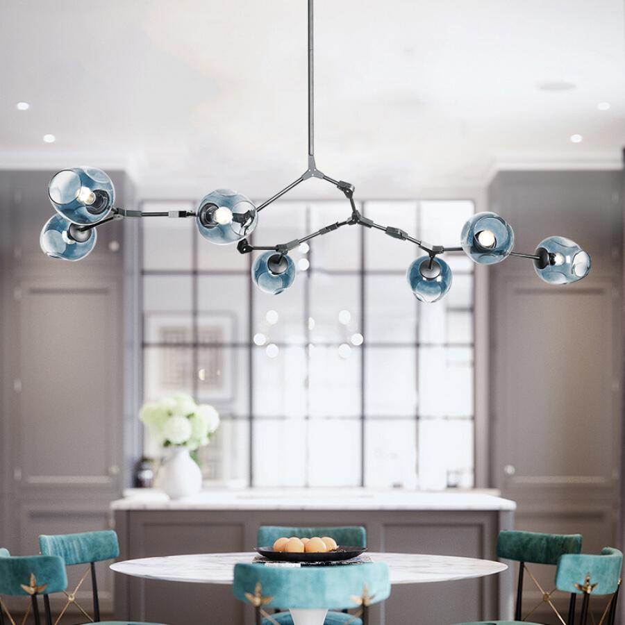NVC Nordic molecular lights modern living room lamp bedroom lamp dining room lamp European magic bean glass lamps and lanterns lighting 7...