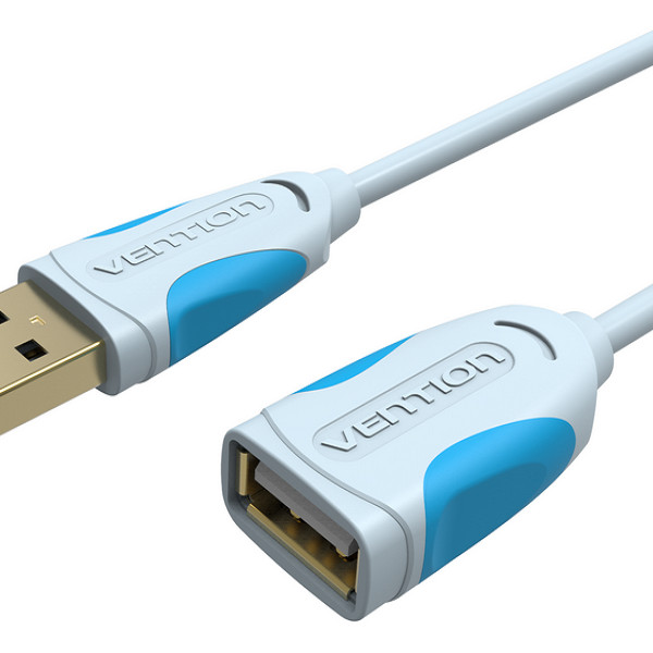 Cáp nối dài USB 2.0 Vention VAS-A05-300 dài 3m chính hãng đầu nối mạ nikel chống gỉ