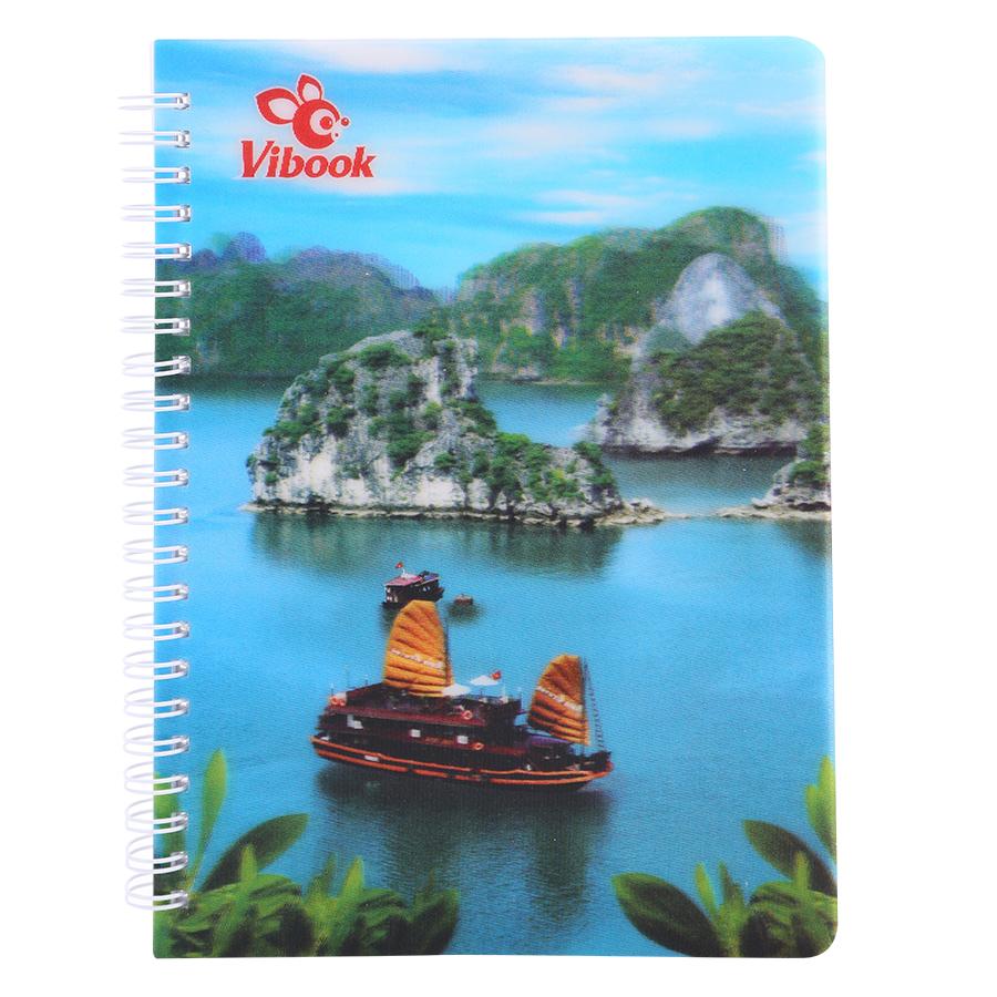 Sổ Lò Xo ViBook 3D SLX3D-3 140 Trang (15.5 x 20.5 cm) - Mẫu Ngẫu Nhiên