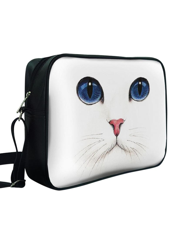 Túi Đeo Chéo Unisex Hộp Mặt Mèo Trắng - TCAA228