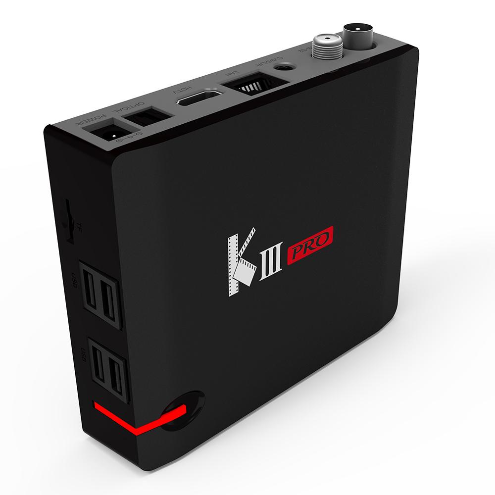 TV Box Mini MECOOL KIII PRO Adroid 7.1 Có DVB-S2 DVB-T2 DVB-C Chip Amlogic S912 Chất Lượng 4K H.265 VP9 (3GB/16GB)
