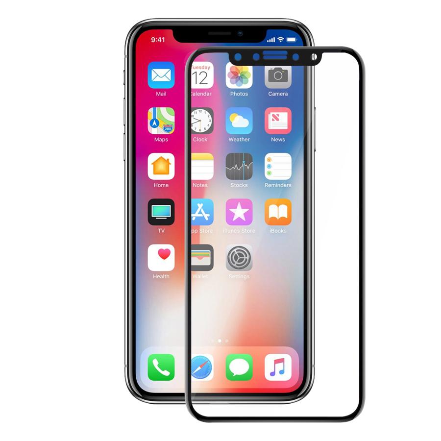 Kính Cường Lực Full 5D iPhone X/ Xs Boss BOSSIPX-BK (Đen)