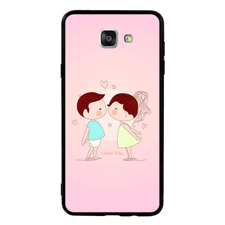 Ốp lưng viền TPU cho Samsung Galaxy A9/A9 Pro  - Kiss love 01