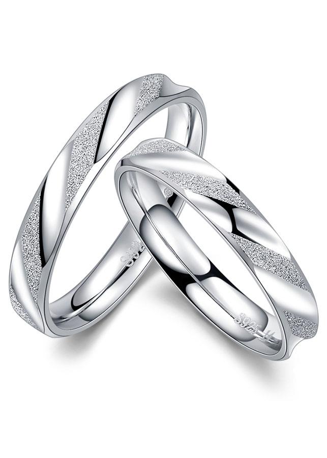 Nhẫn đôi BẠC HIỂU MINH nc552 yêu em_cỡ nhỏ