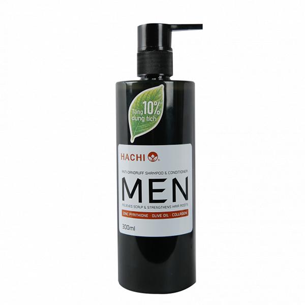 Dầu gội - Dầu xả HACHI MEN trị gàu tinh chất Olive Oil 300ml