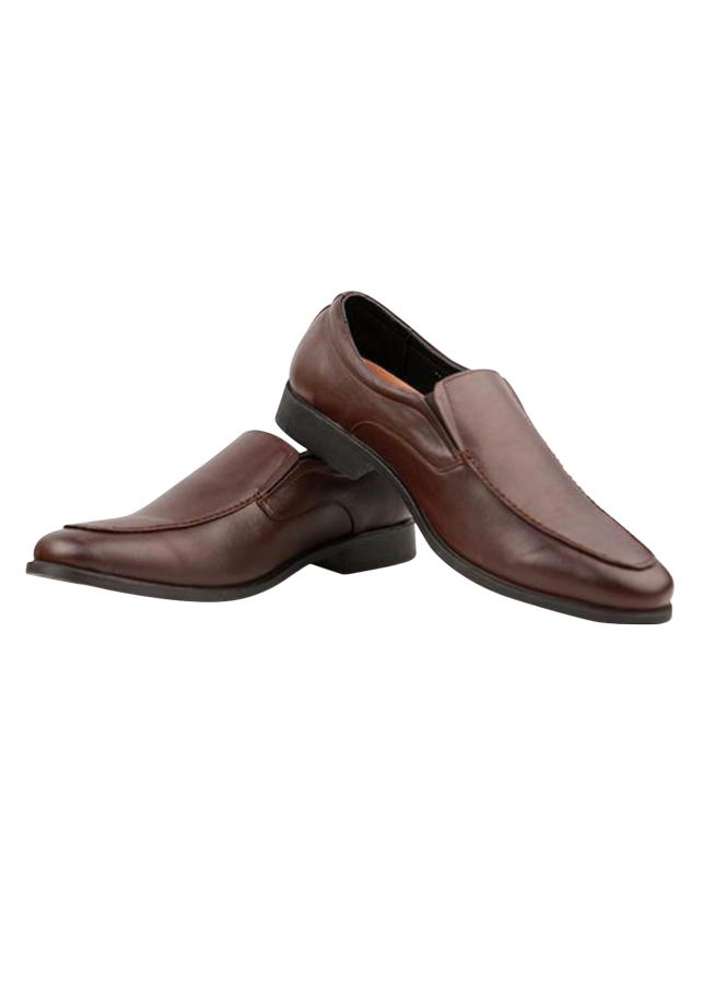 Giày Tăng Chiều Cao Da Thật VNL VNL0ALZD00N- QTTDL - Nâu + Tặng 1 Túi Du Lịch Gấp Gọn