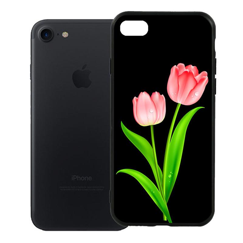 Ốp Lưng Viền TPU Cao Cấp Dành Cho iPhone 7 - Hoa Tulip 01