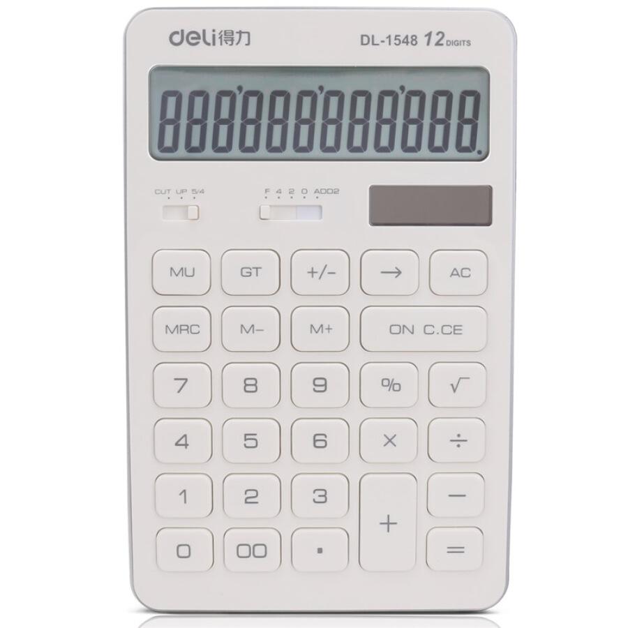 Máy tính để bàn sạc bằng năng lượng mặt trời màu trắng hiệu Efficient (deli) 1548A