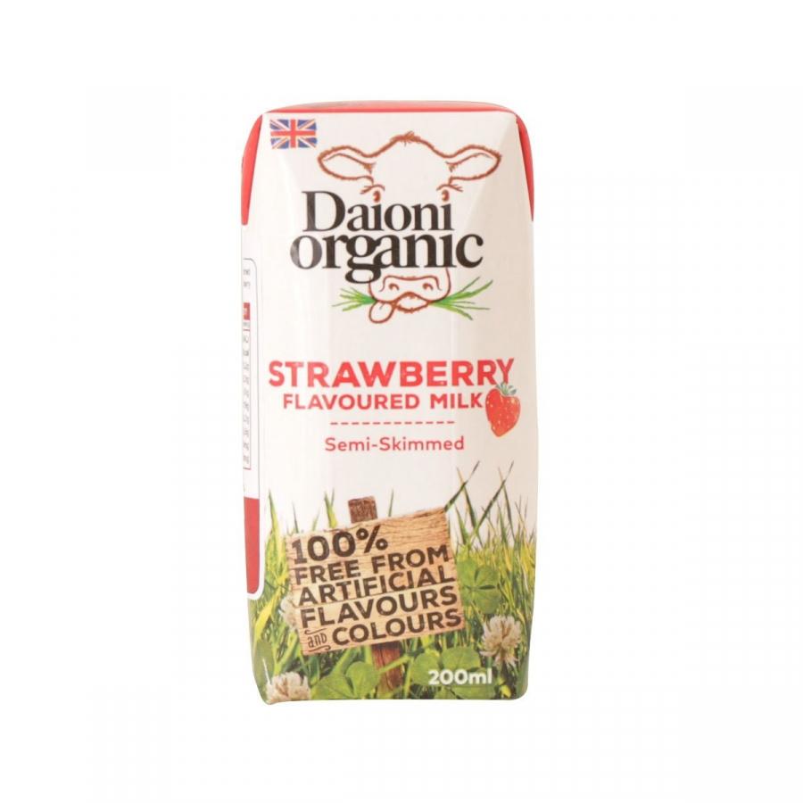 Thùng 18 hộp sữa hữu cơ Daioni Vị Dâu 200ml