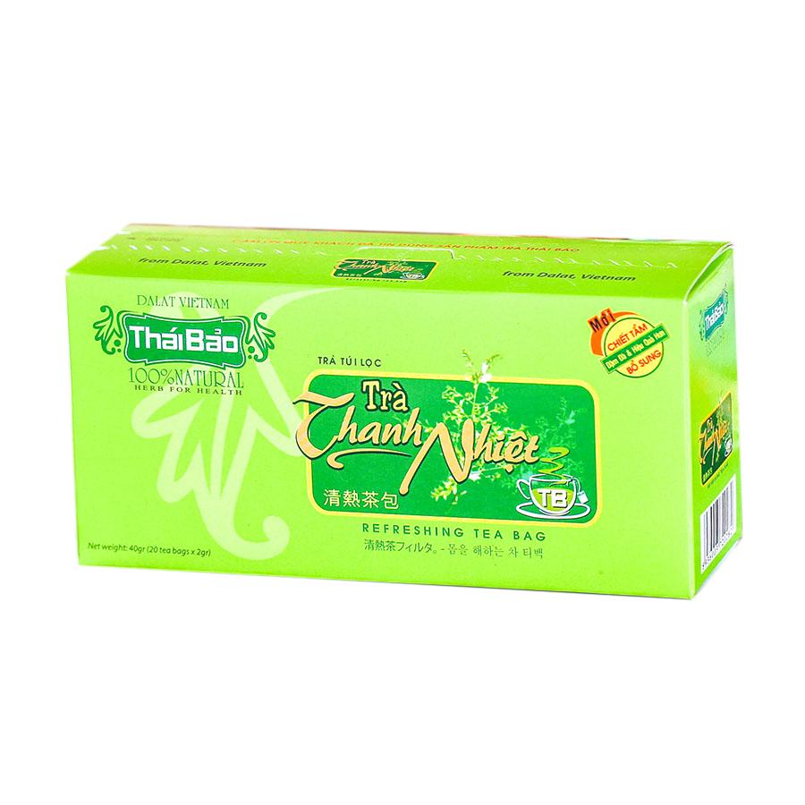 Hộp Trà Hoa Hoè Túi Lọc Thái Bảo mẫu xanh (20 Tép x 2g)