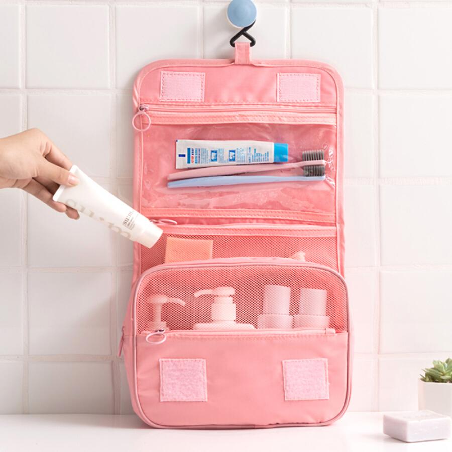 Fangcao travel travel portable hanging bag wash bag multi-function portable cosmetic bag storage bag (pink)