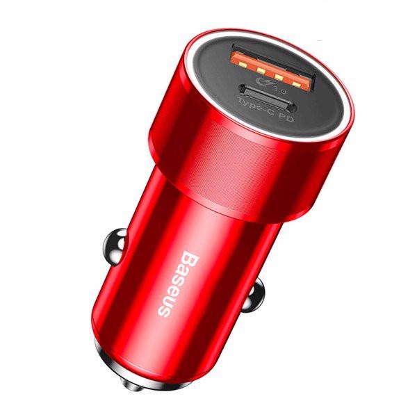 Bộ tẩu củ sạc nhanh 2 cổng USB và Type-C cho điện thoại / Macbook Pro dùng cho xe hơi hiệu Baseus Small Crew Type C PD Fast... - 2338892 , 2097503777452 , 62_15207607 , 380000 , Bo-tau-cu-sac-nhanh-2-cong-USB-va-Type-C-cho-dien-thoai--Macbook-Pro-dung-cho-xe-hoi-hieu-Baseus-Small-Crew-Type-C-PD-Fast...-62_15207607 , tiki.vn , Bộ tẩu củ sạc nhanh 2 cổng USB và Type-C cho điện t
