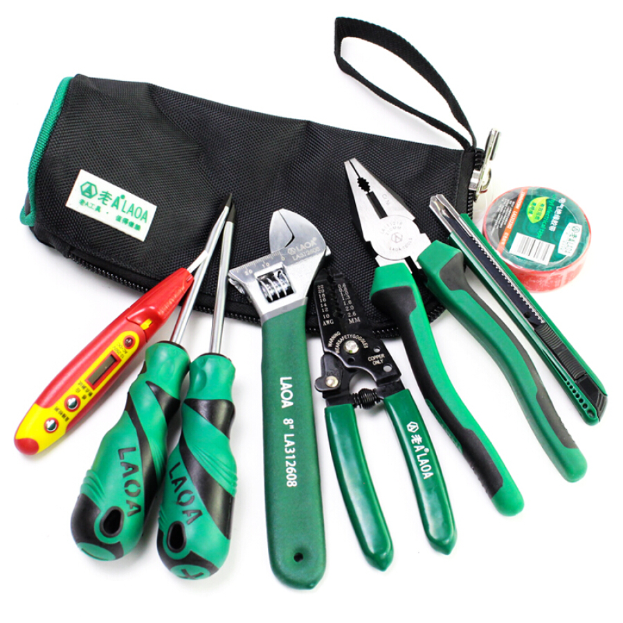 Old A (LAOA) multi-function household maintenance kit repair kit 9 piece set household tool set LA105109