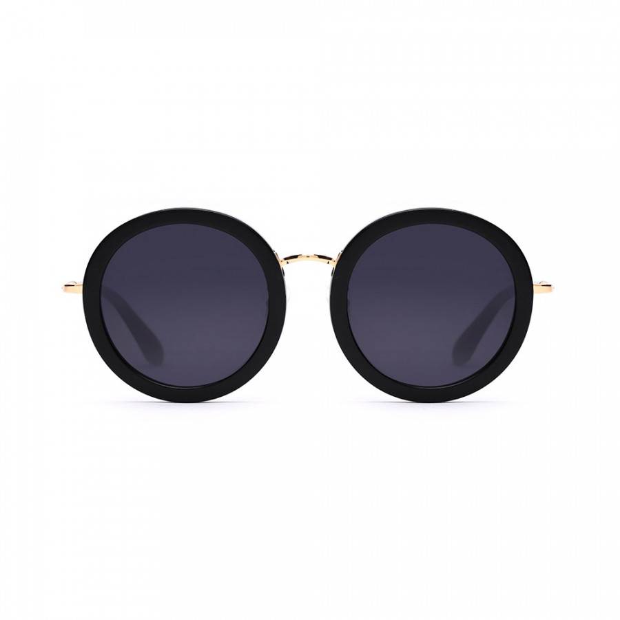 TS Luxury Brand Vintage Optical Sun Glass Women Round Eye Nylon Sunglasses Fashion Retro Shiny Frame Shades Ladies