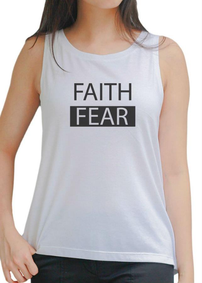 Áo Tanktop Nữ Faith Fear 2 - Trắng
