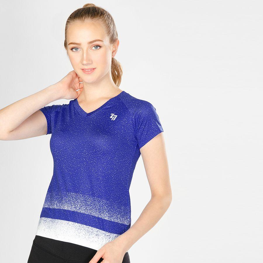Áo Thể Thao Nữ W Basic V Neck Blue