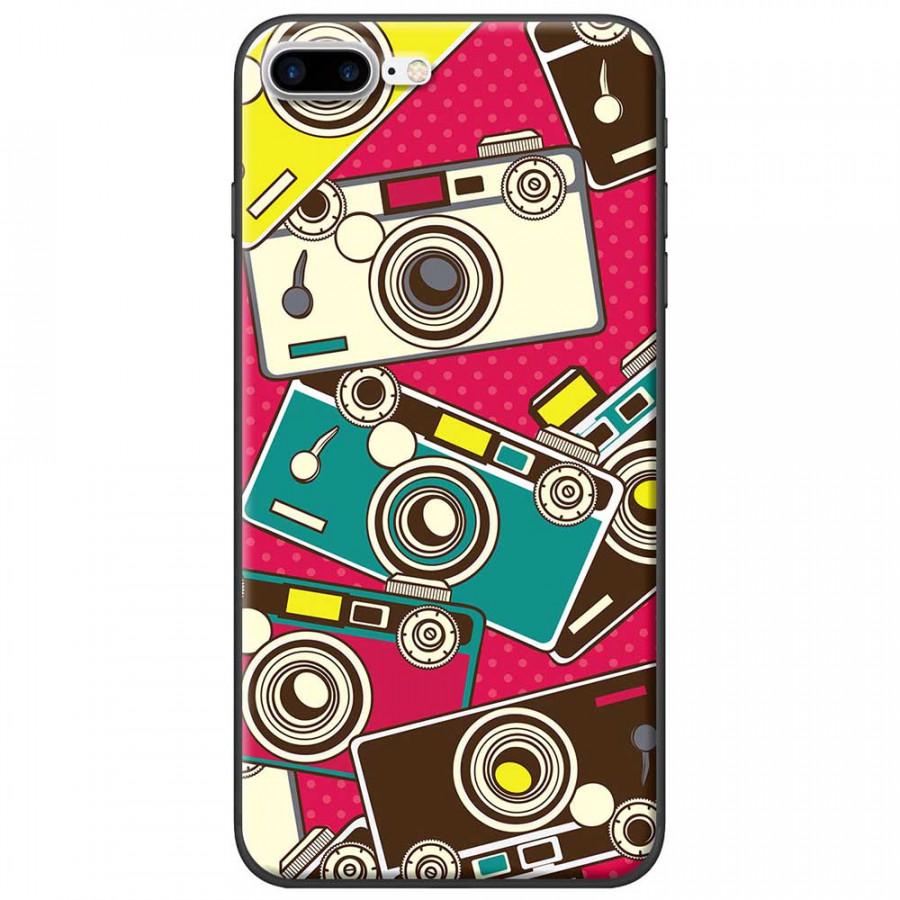 Ốp lưng dành cho iPhone 7 Plus mẫu Máy ảnh nền hồng
