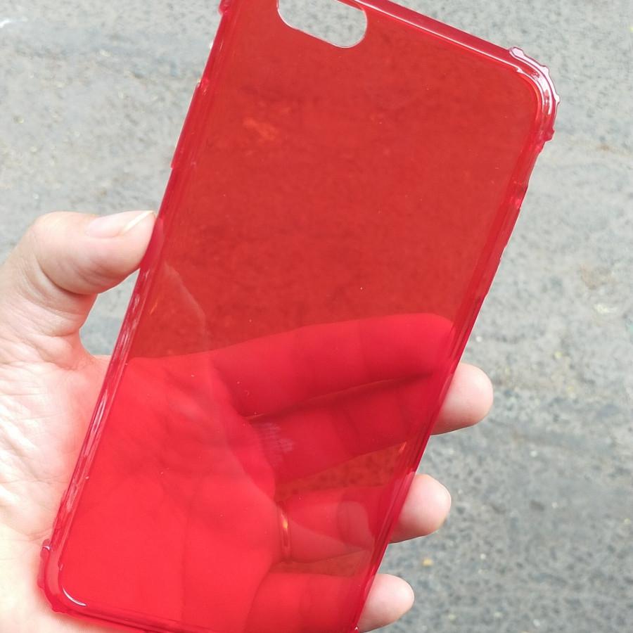Ốp lưng chống sốc gờ cao 4 góc màu trong cho iPhone 6 Plus / iPhone 6s Plus