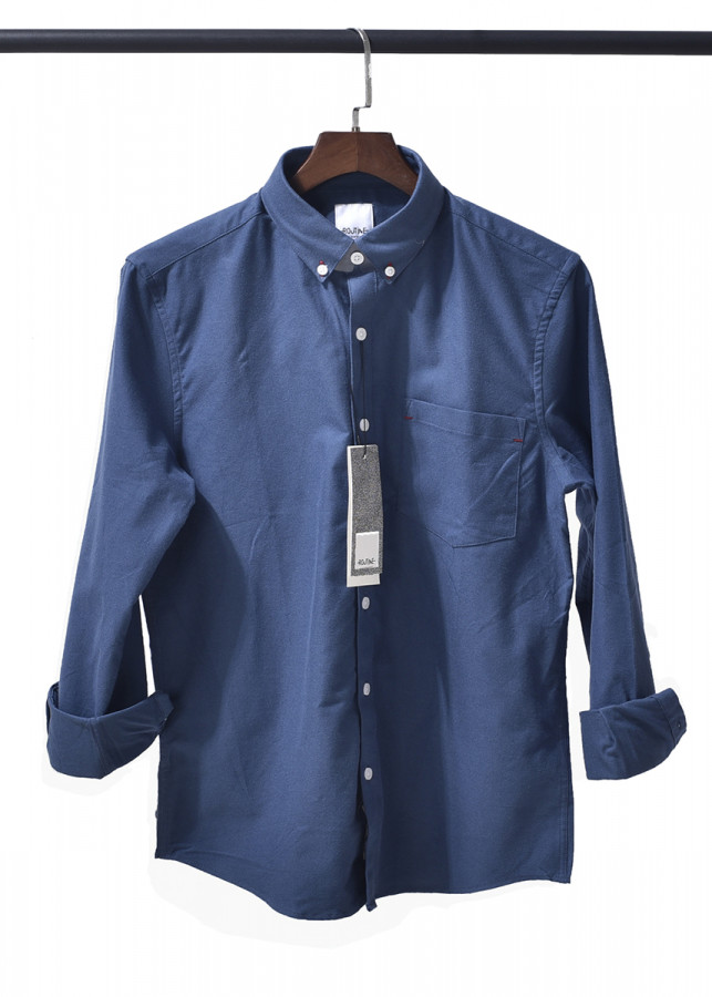 Áo sơ mi nam xanh Oxford dài tay cổ bẻ có túi hàng xuất khẩu - Routine - 5111403 , 4549857055888 , 62_16338080 , 450000 , Ao-so-mi-nam-xanh-Oxford-dai-tay-co-be-co-tui-hang-xuat-khau-Routine-62_16338080 , tiki.vn , Áo sơ mi nam xanh Oxford dài tay cổ bẻ có túi hàng xuất khẩu - Routine