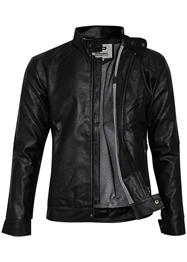 Áo khoác da nam lót lông chuẩn phong cách Zonado ZAK96