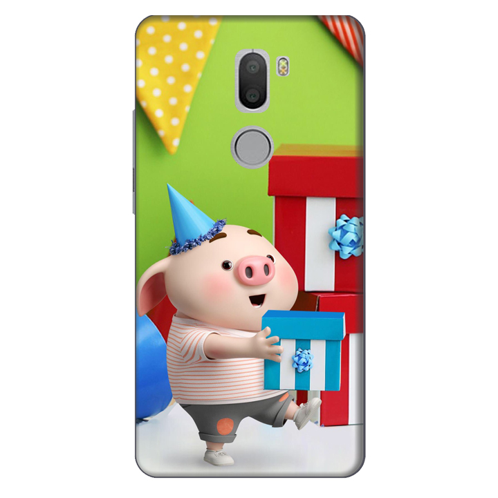 Ốp lưng nhựa cứng nhám dành cho Xiaomi Mi 5 Plus in hình Heo Con Mừng Sinh Nhật