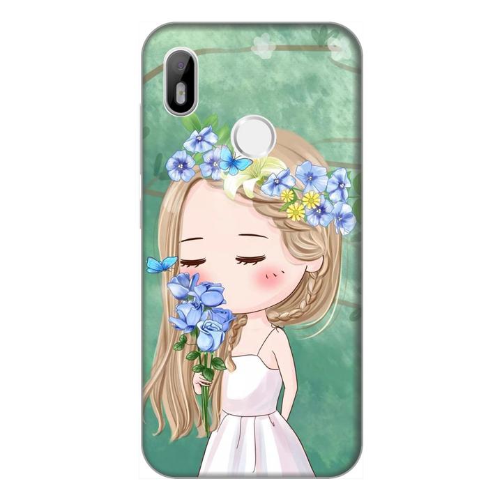 Ốp lưng điện thoại Vsmart Joy 1 hình Cô Gái và Hoa  - Hàng chính hãng
