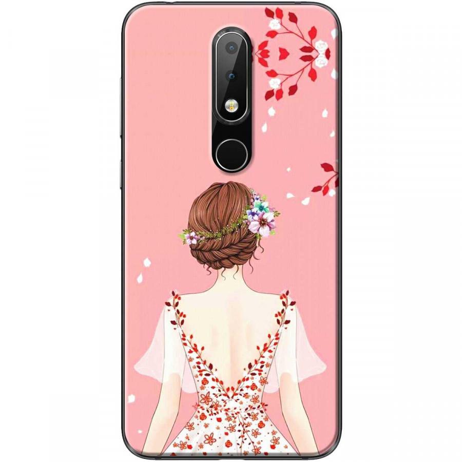 Ốp lưng dành cho điện thoại Nokia 6.1 Plus Mẫu Cô gái áo hồng