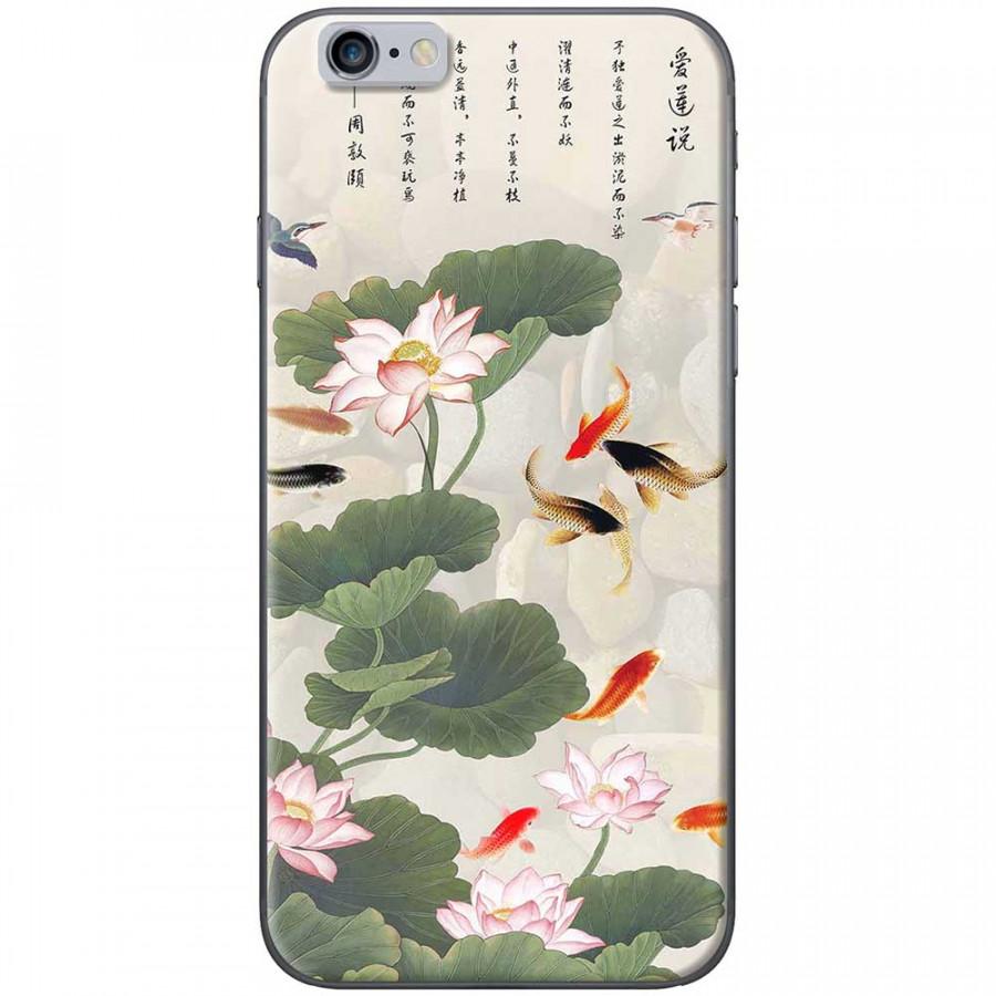 Ốp lưng dành cho iPhone 6 Plus, iPhone 6S Plus mẫu Hoa sen cá