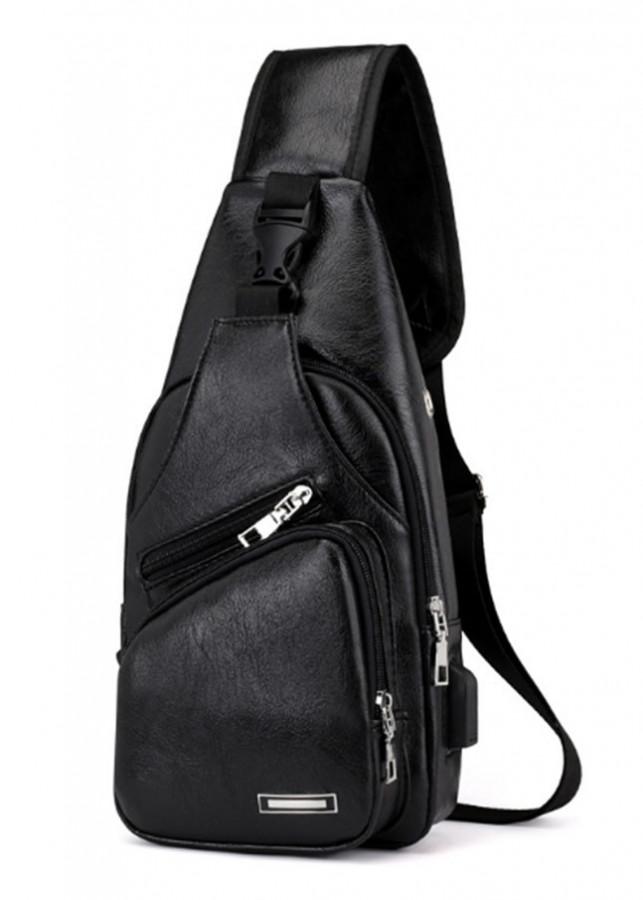 Túi da đeo chéo nam tời trang hàn quốc Onimax DC195 ( ĐEN )